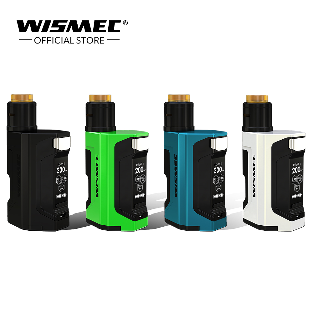 Оригинальная коробка Wismec LUXOTIC DF комплект с гильотинной V2 RDA распылитель бак 7 мл бутылка 200 Вт система Squonk электронная сигарета vape