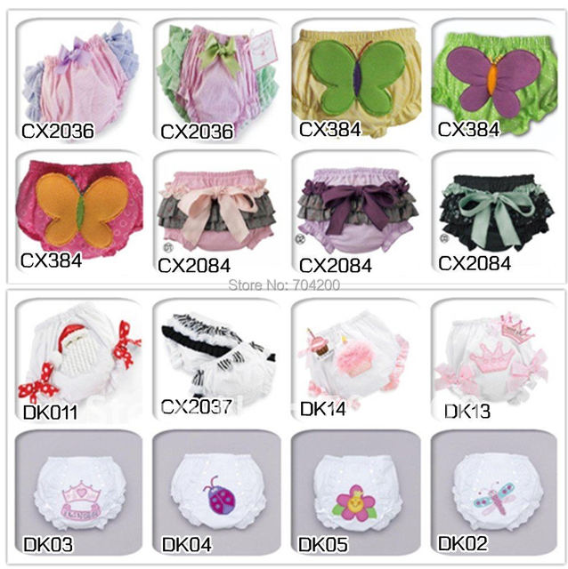 Retail-many designs to choose Santa Claus Baby Ruffle Bloomers Girls' Shorts & Panties/Girl's ruffle pants