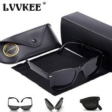 2017 LVVKEE Classic Rivet polarized Sunglasses Men Women retro 2140 folding Sun Glasses for Female Male with box Oculos De Sol