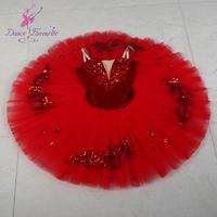 New Red Pre professional Ballet Tutu Girl & Women Stage Performance Ballet Costume Ballerina Dance Tutu