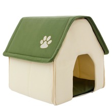Comfortable, cozy high quality red green puppy house