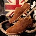 2017 Botas de Ante de Tobillo Más El Tamaño 38-46,47, 48 12.5 de Los Hombres de Cuero Botas de Moda Calientes de la Felpa de Invierno Los Hombres zapatos
