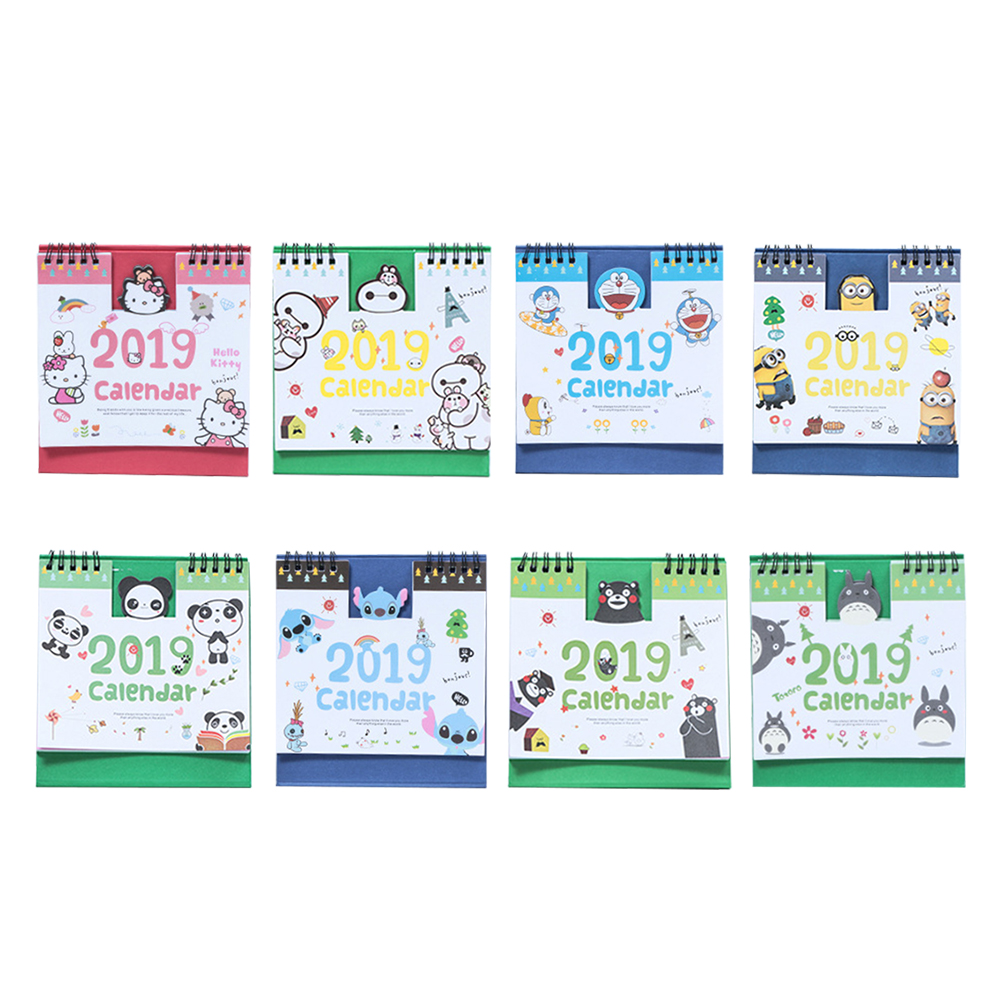 Office & School Supplies Calendar 1 Piece 15cm 2019 Cute Animal Calendar Office Stationery Desk Notebook Promotion Gift Girls Birthday Gift Carefully Selected Materials