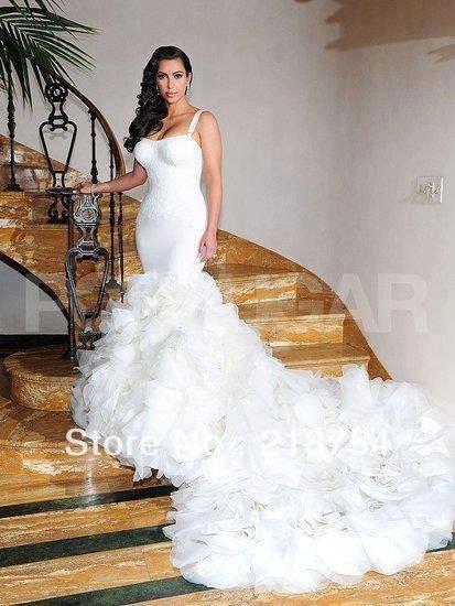 Vestido de novia de kim kardashian 2014