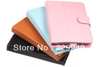 "7"" Rotatable Leather Case for Tablet PC Protector Jacket"