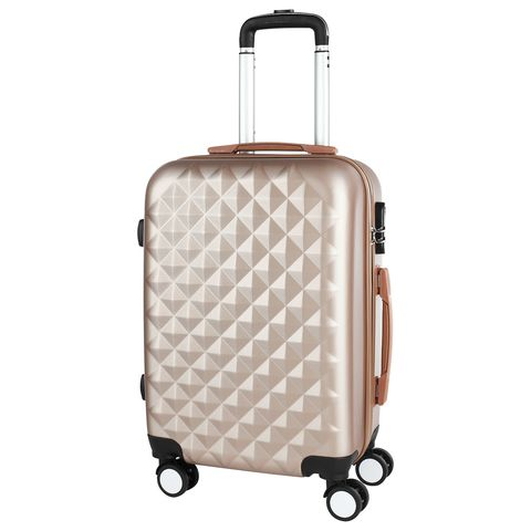 Stylish beige PROFFI TRAVEL PH8367beige, S, plastic suitcase with 4 wheels with combination lock [available from 10 11] black suitcase profi travel ph8866 l plastic with retractable handle on wheels