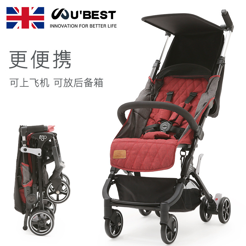 Baby stroller is ultra-light and easy to fold, easy to carry, wear-resistant and shock-absorbing wheels carry  on the plane