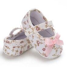 Baby Girls First Walker Shoes Newborn Princess No-slip Prewalkers