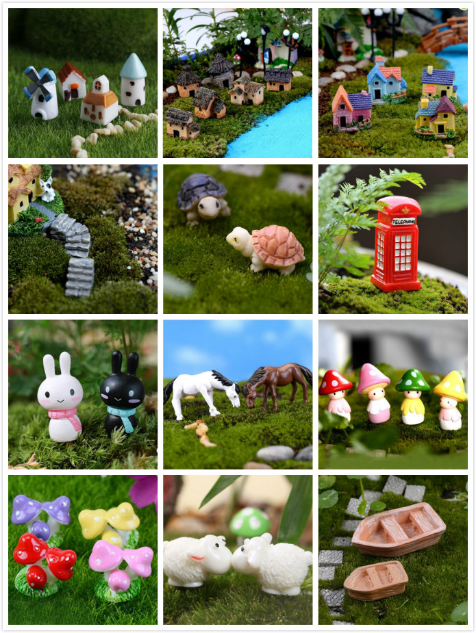Multi Style Miniature Ornament DIY Fairy Garden Micro Dollhouse Plant Pot Decor Bonsai Terrarium Ornament DIY Miniature Garden