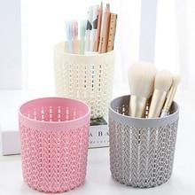 Cylinder Hollow Cosmetic Brush Box Holder Storage Empty Bag Brushes Organizer Make Up Tools