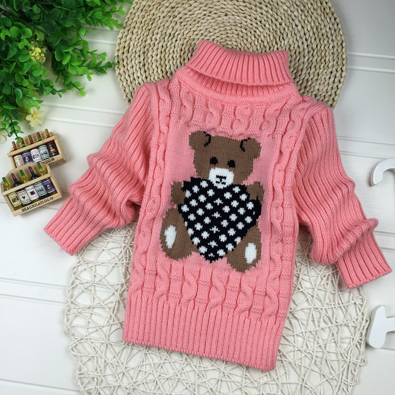 Big Size 2T-7T pullover winter autumn infant baby sweater boy girl child knitted sweater turtleneck sweater children outerwear 5
