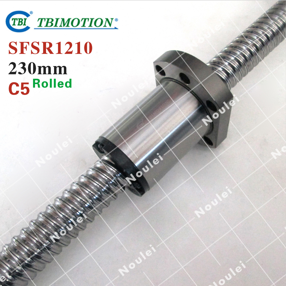 New Taiwan TBI SFS1210 Rolled Ball screws 230mm C5 +1210 nut for linear CNC Router Parts with end machined горелка tbi sb 360 blackesg 3 м