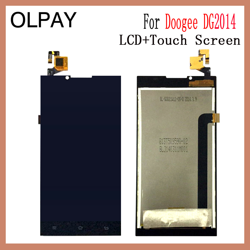 OLPAY 5.0 New Original For Doogee DG2014 CellPhone LCD Display + Touch Screen Digitizer Assembly Replacement Glass Free ToolsOLPAY 5.0 New Original For Doogee DG2014 CellPhone LCD Display + Touch Screen Digitizer Assembly Replacement Glass Free Tools