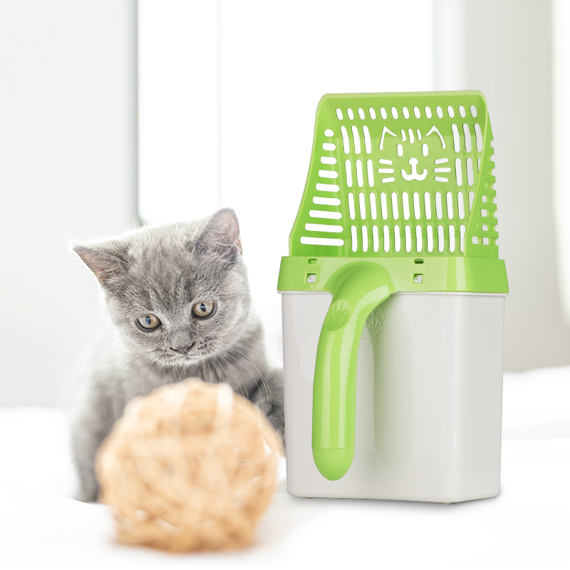 Useful Cat Litter Shovel Quick Easy Pet Cleaning Tool Scoop sift Cat Sand Cleaning Products Scoops For Cat Toilet Training Kit in Litter Housebreaking from Home Garden