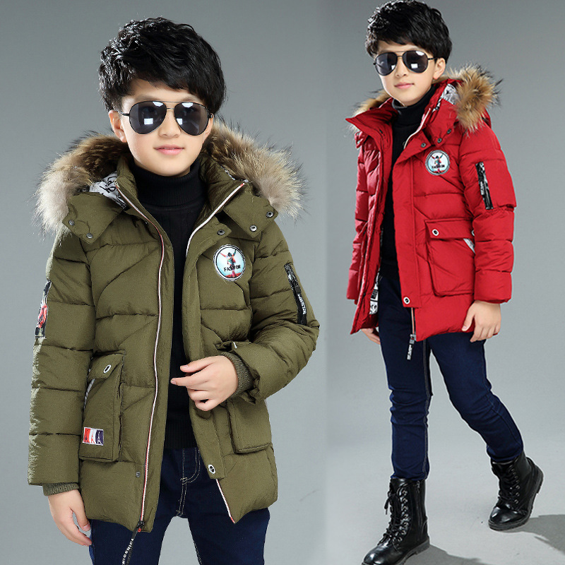 ФОТО The New 2016 Han Edition Child Cotton-padded Jacket Boy Winter Jackets Children Round The Cotton Baby Clothes