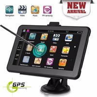Portable 7in Car GPS Navigation Touch Screen Car Truck Navigator 128MB 8GB Sat Nav with US AU EU Map Free Map