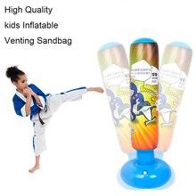 Детский тренировочный фитнес-боксерская груша надувной воздушный орошение песок семейный магазин развлечения Vent бой мешок с измельченным песком