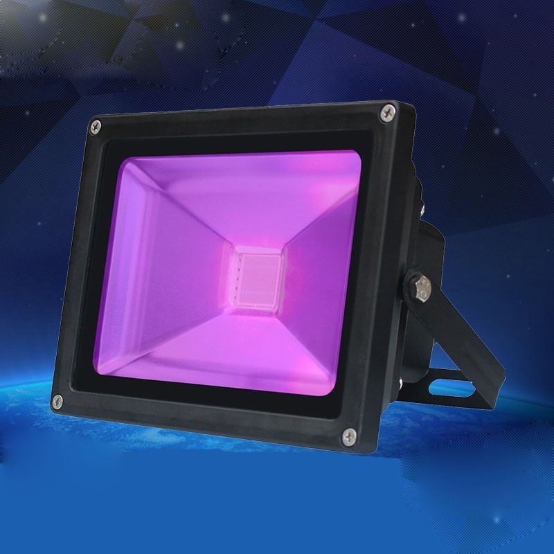 Us 161 1 10 Off Ac85 265v 10w 20w 30w 50w Uv Led Flood Light Purple Outdoor Ip65 Waterproof Ultra Violet Stage For Dj Disco Party Bar In