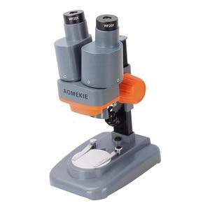 Image 4 - AOMEKIE Binocular Stereo Microscope 20X/40X Above LED Lights PCB Solder Tool Mobile Phone Repair Mineral Watching Microscopio