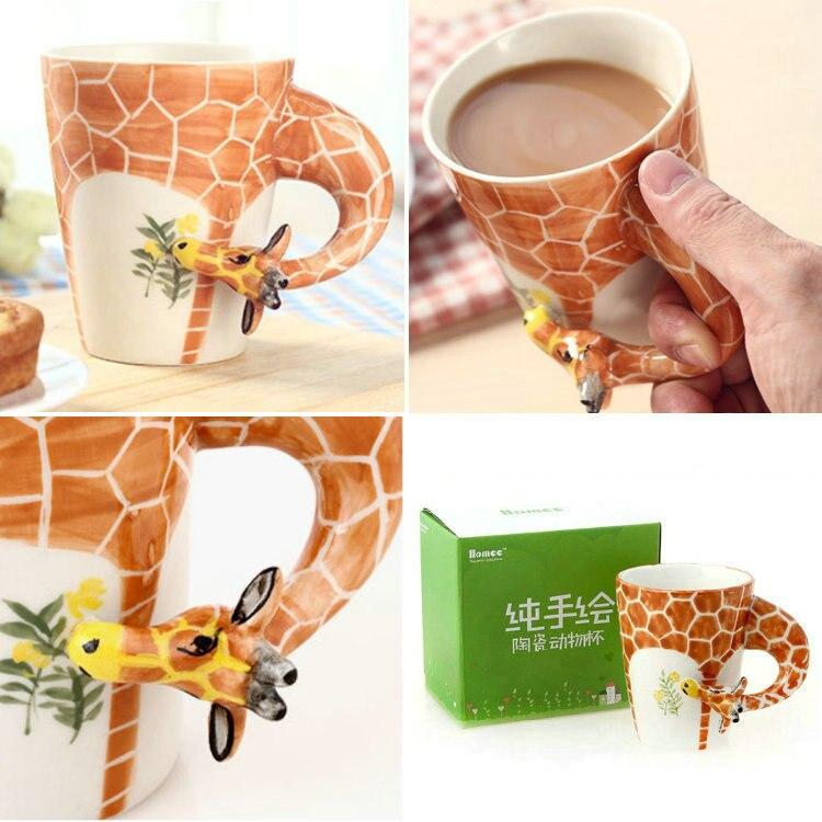 Free shipping original animal shape pottery coffee mug for Animal shaped mugs
