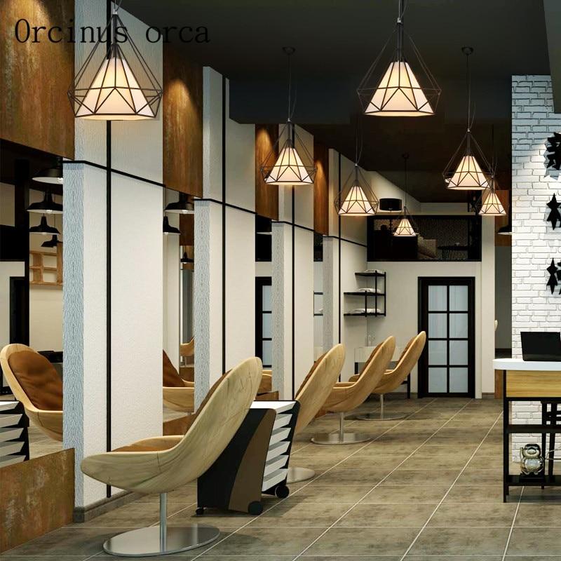 Nordic retro Diamond Privjesak potkrovlje moderni minimalistički - Unutarnja rasvjeta - Foto 5