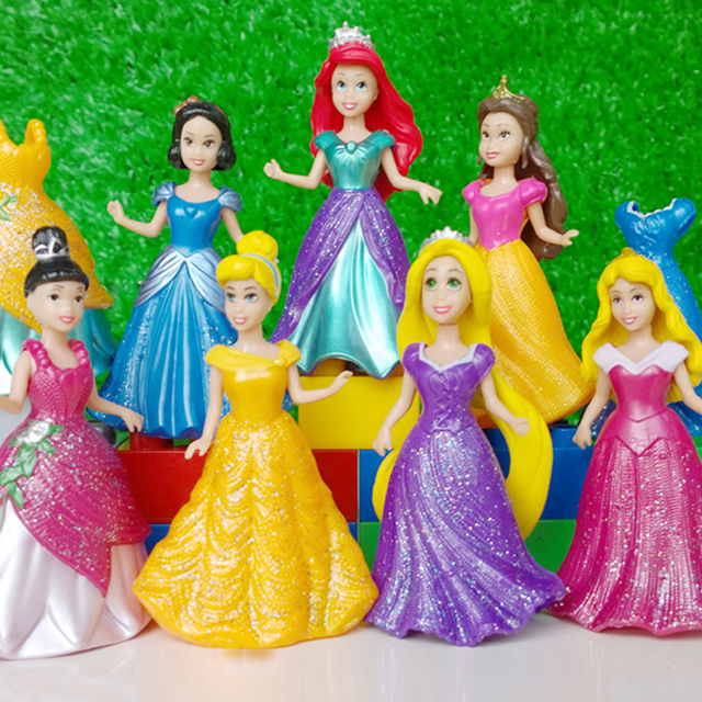Disney Princess Action Figure Snow Shite Frozen Elsa Set 14pcs/Lot 8cm