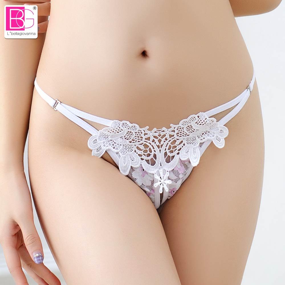 L'bellagiovanna Sexy Women's Panties New Bikini Female Easy crotchless Thongs Underwear Panty Briefs Girl intimates XXS-XL 2151