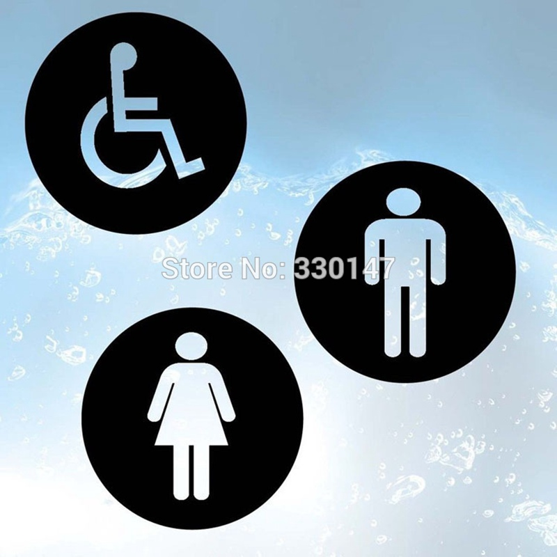 3pcs set Bathroom Toilet Disabled Indicating Signs Acrylic Mirrored Toilet  Door Plate DIY Wall Stickers. Online Get Cheap Disabled Toilet Sign  Aliexpress com   Alibaba Group