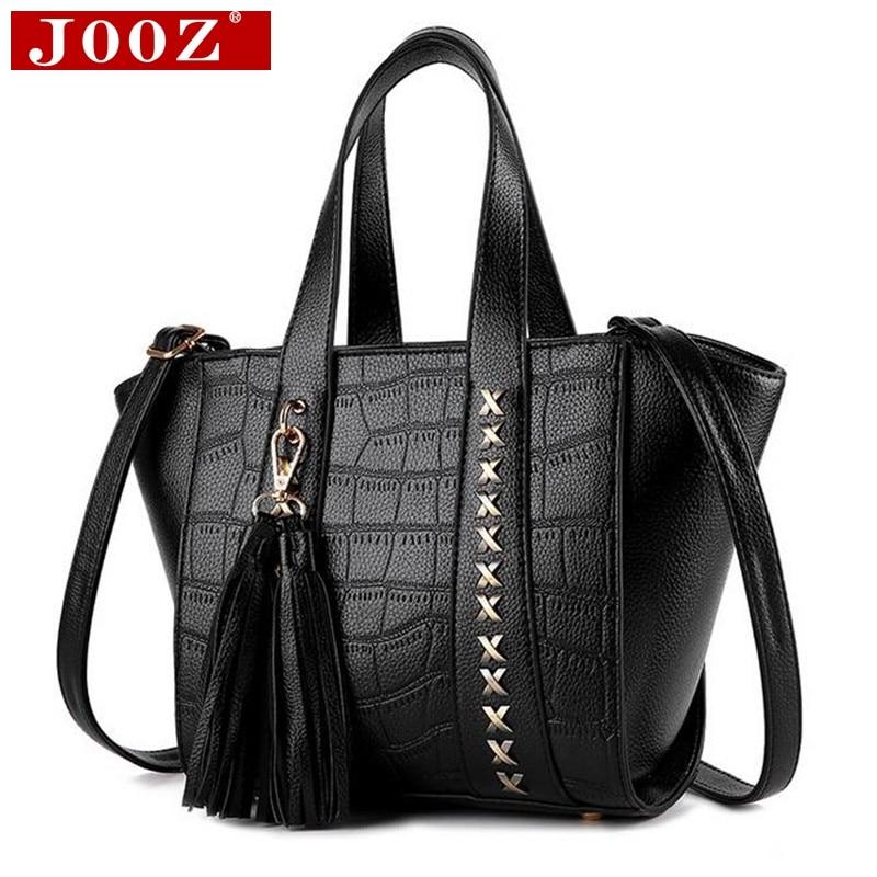 ФОТО JOOZ Crocodile pattern women messenger bag Leather Handbags famou designer brand bags Vintage Trapeze Tote Lady Shoulder Bags