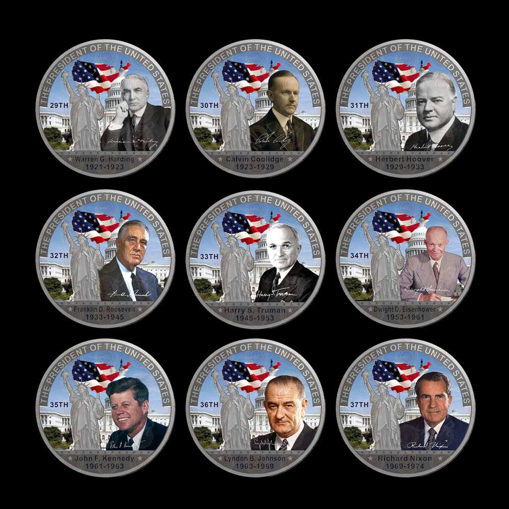 WR All 45 United States Presidents Silver Coin Sets Gift Coin Home Decorative Art Crafts Quality Business Souvenir Gifts 44pcs