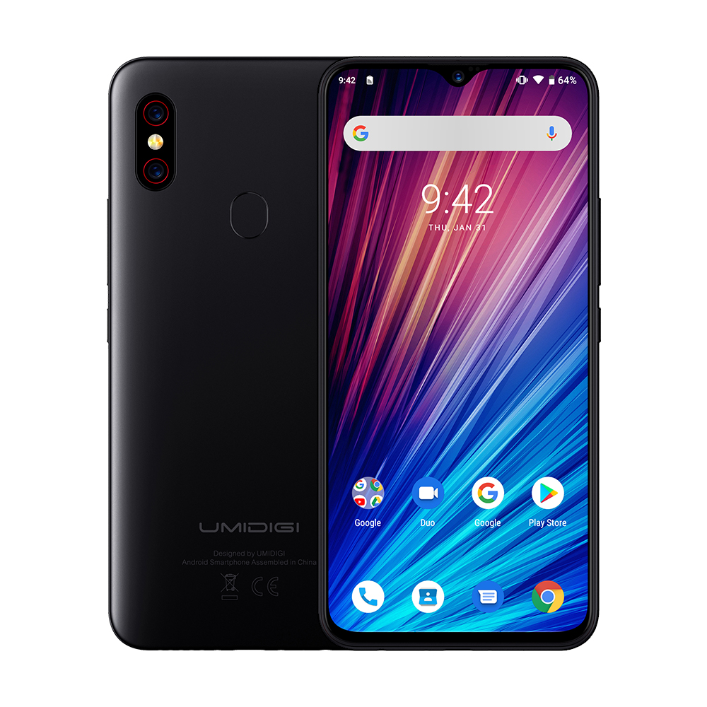 "Image 3 - UMIDIGI F1 Play Android 9.0 48MP+8MP+16MP Cameras Mobile Phone 6GB RAM 64GB ROM 6.3"" FHD+ Helio P60 Global Smartphone Dual 4G-in Cellphones from Cellphones & Telecommunications"