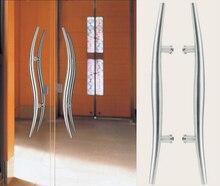 Архитектурный ручка двери 304 класс из нержавеющей стали змея тянуть ручки 38 * 600 мм для деревянных / / стекло входной двери HM85