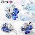 15% colares de prata para as mulheres-colar de cristal banhados a flor para melhores amigos presente feminino atacado baratos moda uloveido