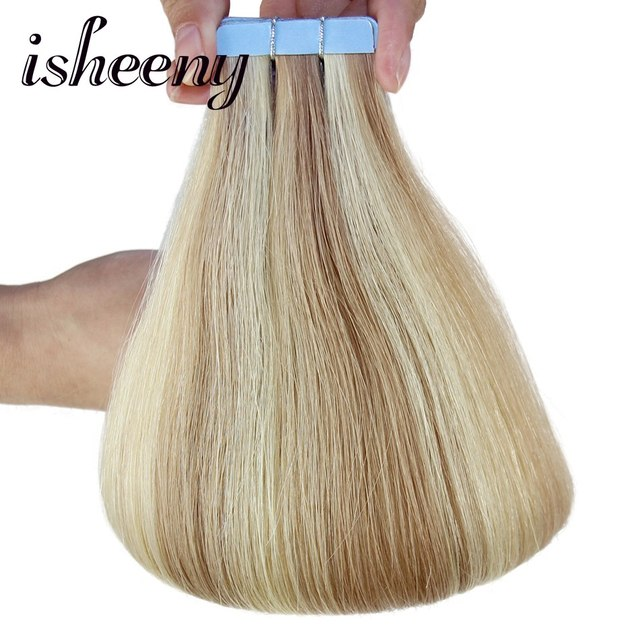Isheeny 12613 22gpc Piano Human Hair Extensions Tape Adhesive