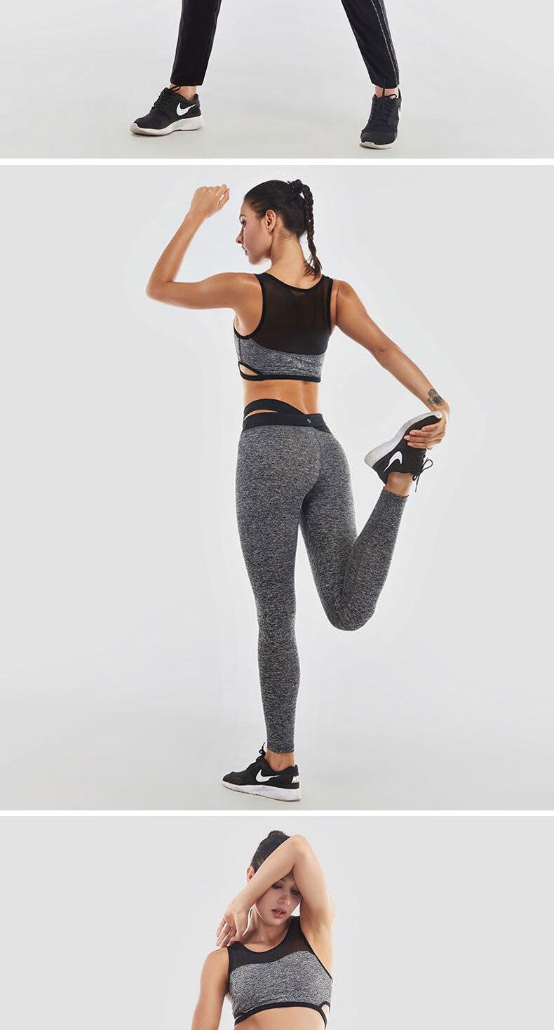 VANSYDICAL 2017 Women Sports Bras Running Push Up Sexy Stretch Yoga Top Fitness Women Sports Top for Yoga Sportswear Underwear M 20