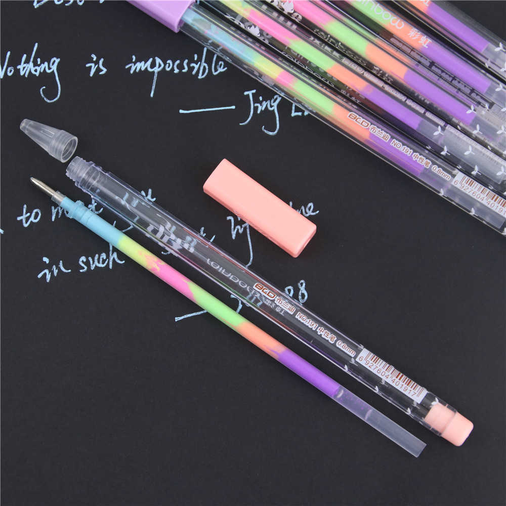 1 قطعة 0.8 مللي متر 6 ألوان الحبر اللون ألبوم صور جل القلم القرطاسية مكتب التعلم لطيف القلم للجنسين القلم الزفاف قلم هدية للأطفال