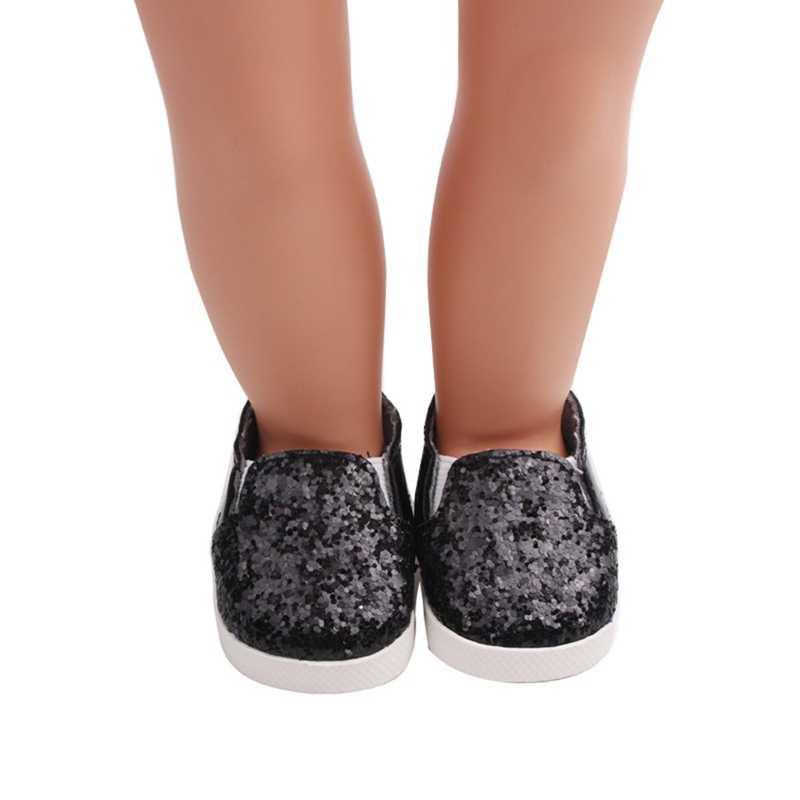 Блестящая обувь для кукол, платье с блестками, обувь для девочек 18 дюймов, куклы аксессуары игрушки для детей, подарок для маленькой девочки