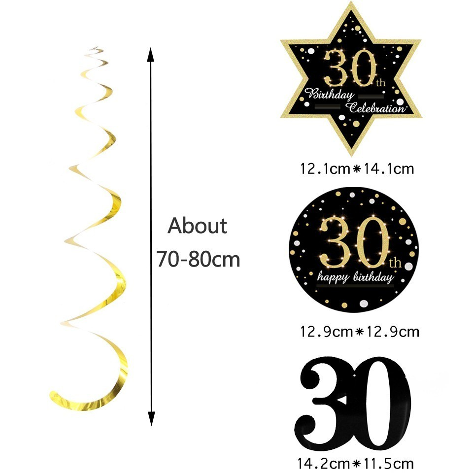 Image 5 - Hot!18/30/40/50/60 Year Olds DIY Spiral Ornaments Birthday Confetti Balloon Birthday Balons Anniversary Party Decorations-in Party DIY Decorations from Home & Garden