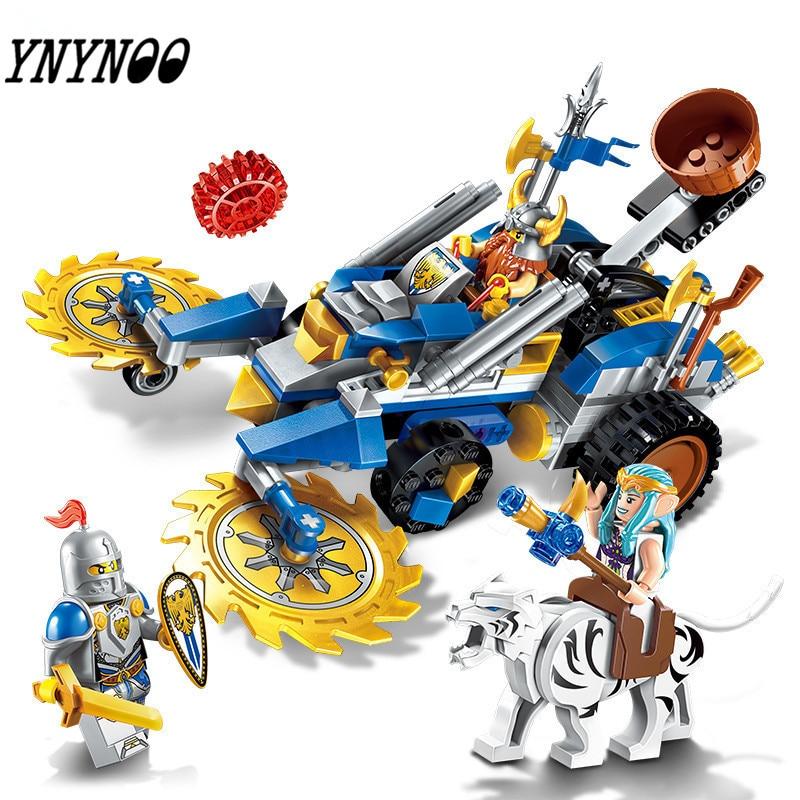 YNYNOO New Building Block War of Glory Castle Knights Dwarven Chariot 243pcs Educational Bricks Toy Boy Gift 2308 knights of sidonia volume 6