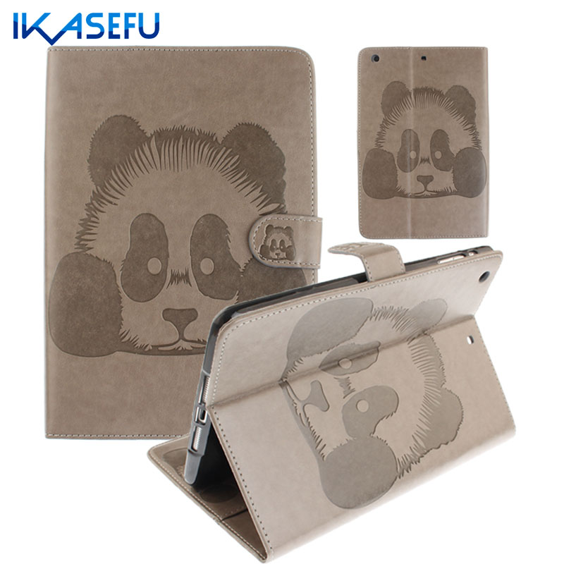 IKASEFU PU Leather Shell For Apple ipad 5 I Pad Fundas Coques Filp Stand Capa Cover Case For iPad air 1st ipad5 Tpu Silicone Air