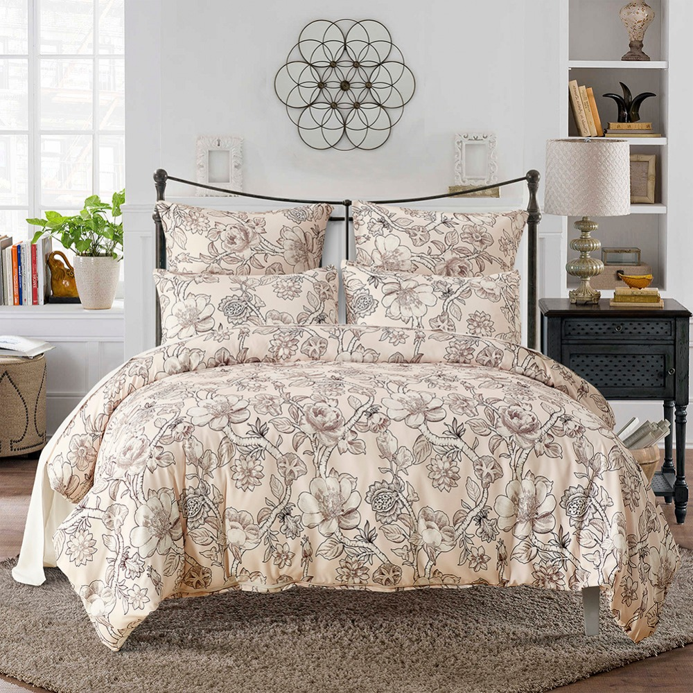 Queen Size Bed Sheet Sets Uk 2017 Printed Flowers Twin Queen King Size Boho  Palace