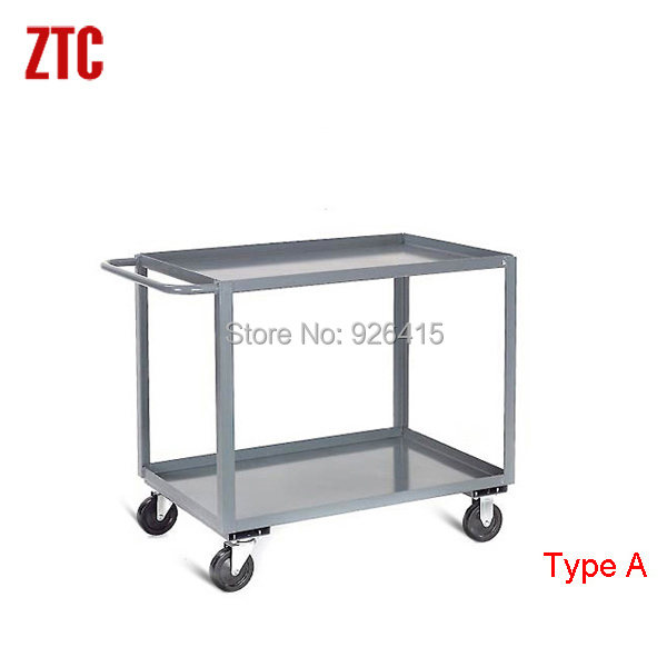 Superbe High Quality Office Workstation Cart,rolling Office Storage Trolley On  Wheels,double Shelves Heavy