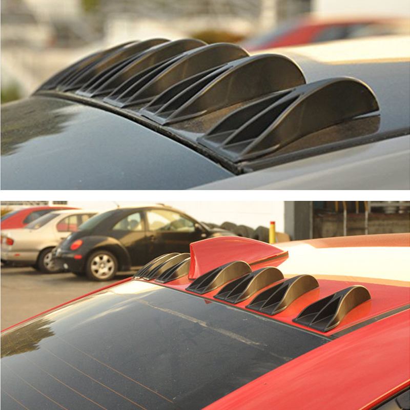 US $11 9 22% OFF|2PCS Funny Car Stickers Eagle Claw Shape Shark Fin  Diffuser 3D Car Stickers Roof Refitting Vortex Generator Carbon Fiber  Pattern-in