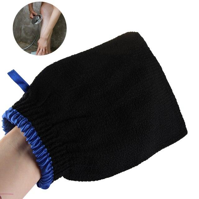 1 Pcs Body Cleaning Hammam Bath Scrub Glove Shower Exfoliator Dead Skin Remover Body Facial black Massage Mitt Bathroom Products 1