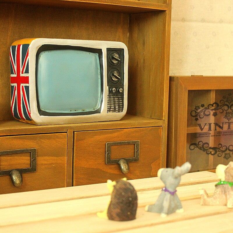 American TV Machine Large Piggy Bank Figurines Old Fashion Resin ...