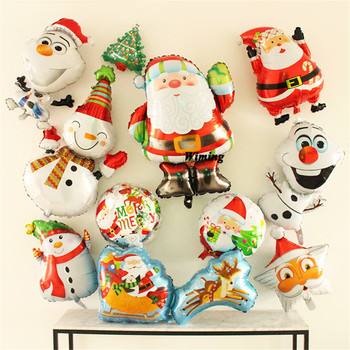 helium balloon children kids party supplies toys santa claus snowman christmas tree bell deer decoration christmas balloons image