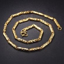 hot deal buy gold color long chain necklaces for women chain trendy gold color men necklaces jewelry couple necklaces pendants man
