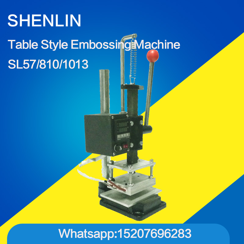 SL57 Manual Stamping Machine bronzing leather printer,Creasing machine,hot foil stamping machine,marking press,embossing machine hot stamping machine hot foil pneumatic stamping press logo printer for leather paper etc customized printable area zy 819b