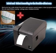 Neue 1 roll label papier + Barcode etikettendrucker Thermische kleidung etikettendrucker Unterstützung 58mm druckpapier/label druck verdoppelt