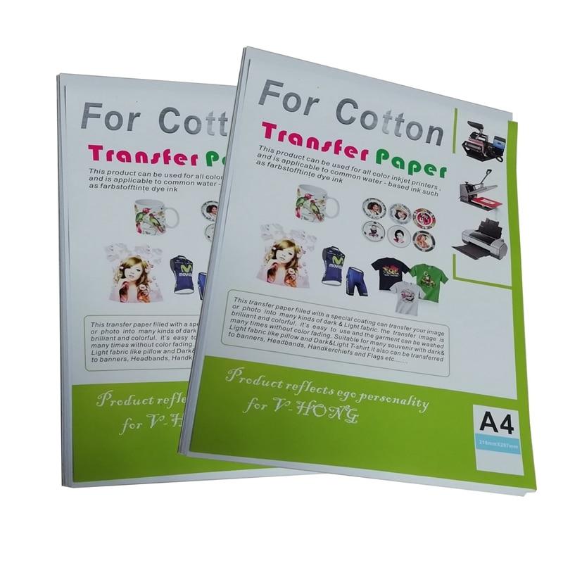 A4 Size Thermal Transfer Printing Inkjet Iron-On Dark T-Shirt Transfers Paper LTR 8.5x11